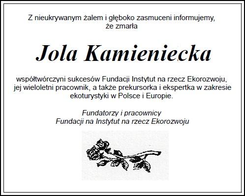 Ostatnie pożegnanie Jolanty Kamienieckiej